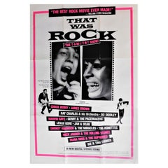 """That Was Rock"" Original Vintage Theatrical One-Sheet Movie Poster Mick Jagger"