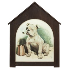 That's Bully by Cecil Aldin in Original Kennel Frame, Dog Picture