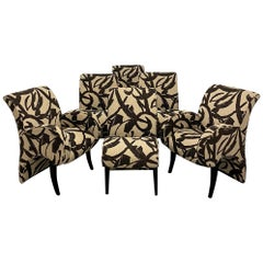 Thayer Coggin 6 Dining Chairs 2 Arms 4 Sides Modern Design