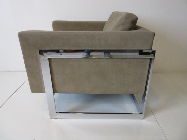 American Thayer Coggin Cube Cantilever Lounge Chair by Milo Baughman For Sale