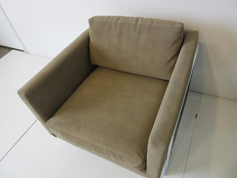 Thayer Coggin Cube Cantilever Lounge Chair by Milo Baughman In Good Condition For Sale In Cincinnati, OH