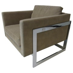 Thayer Coggin Cube Cantilever Lounge Chair by Milo Baughman