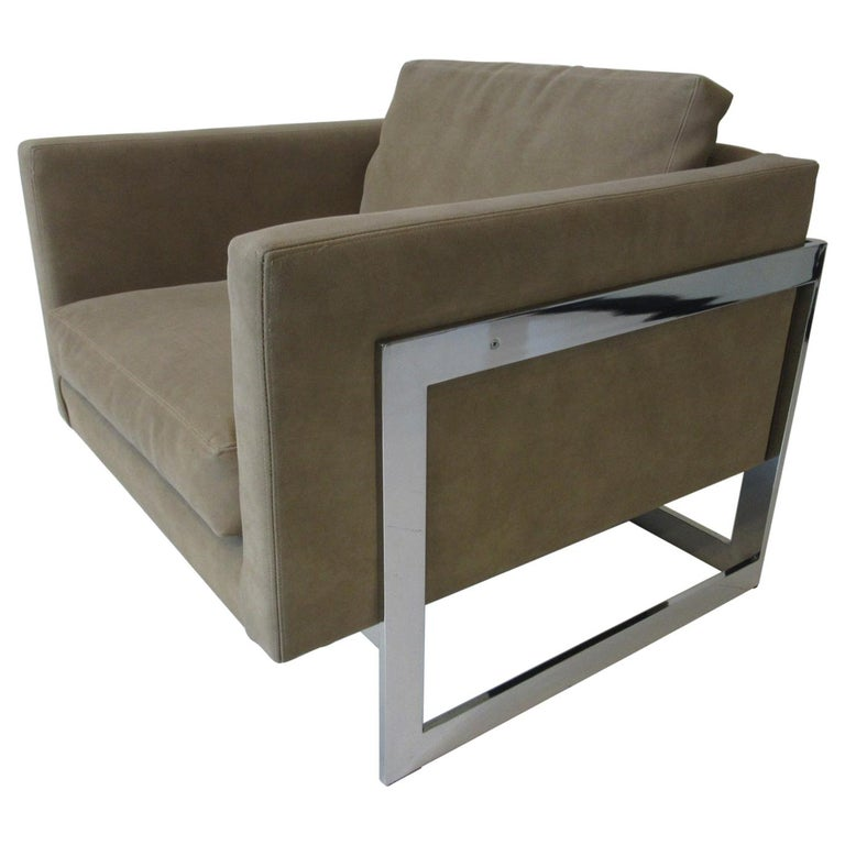 Thayer Coggin Cube Cantilever Lounge Chair by Milo Baughman For Sale
