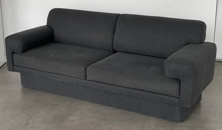 Thayer Coggin Fully Upholstered Modernist Sofas In Fair Condition In Chicago, IL