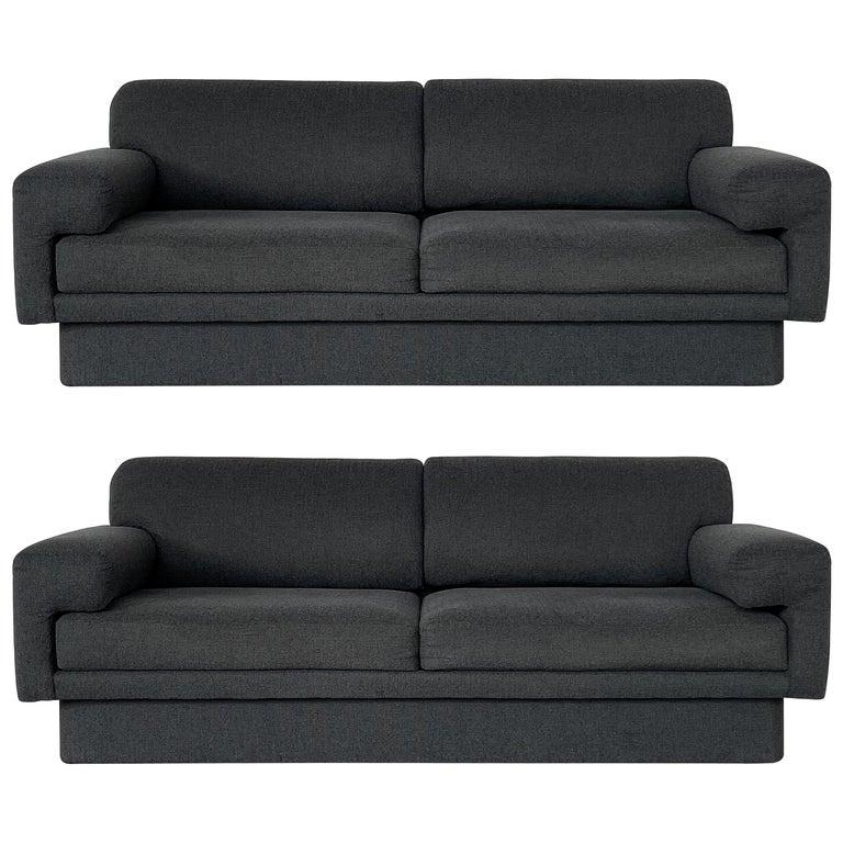 Thayer Coggin Fully Upholstered Modernist Sofas