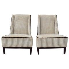 Thayer Coggin Post Modern Nolita Chairs, Pair