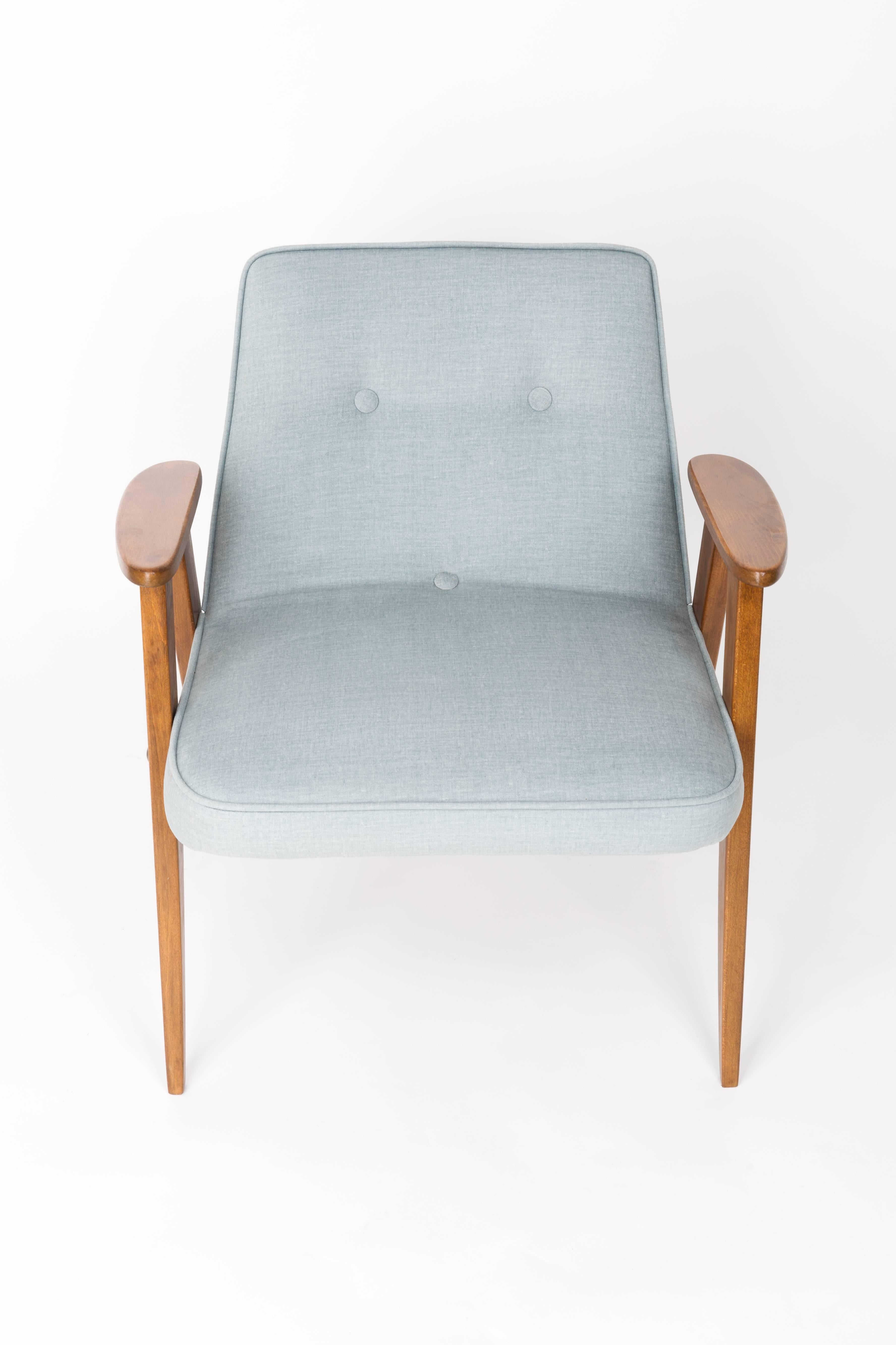 Mid Century Modern 366 Green Armchair, Jozef Chierowski, 1960s For Sale