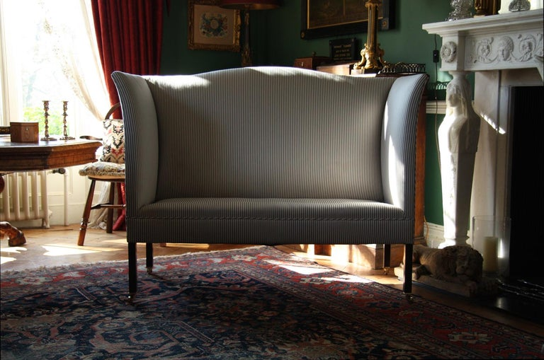 Edwardian Admiral Wingback Sofa by Noble and Thane For Sale