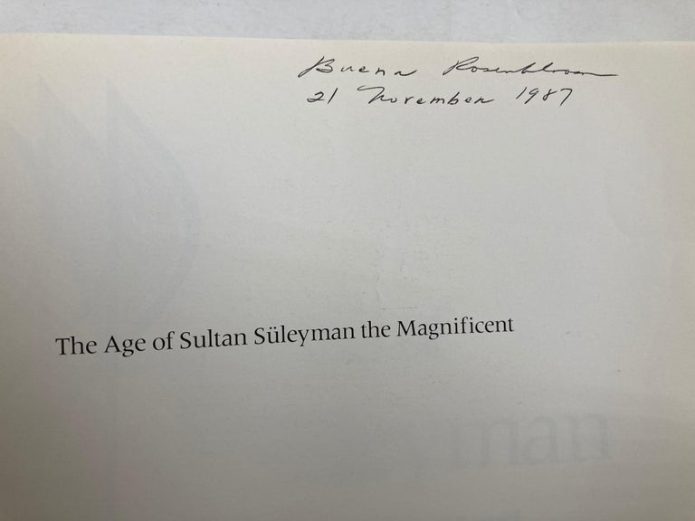 20th Century The age of Sultan Süleyman the Magnificent Book by Esin Atıl For Sale