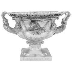 'The Allenby Cup' a Monumental Sterling Silver Warwick Vase by Barnards, 1906