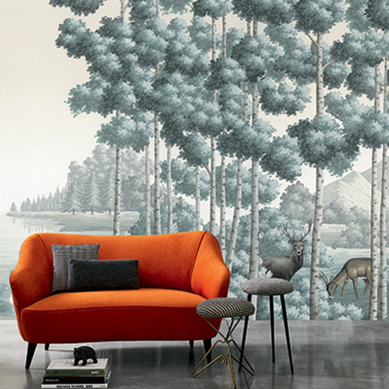 A charming and sophisticated piece of decor, this wallpaper will elevate the look of any interior. The Amber Route was an ancient amber trade path that covered the coastal areas of the North and Baltic Sea to the Mediterranean Sea. Part of the Tour