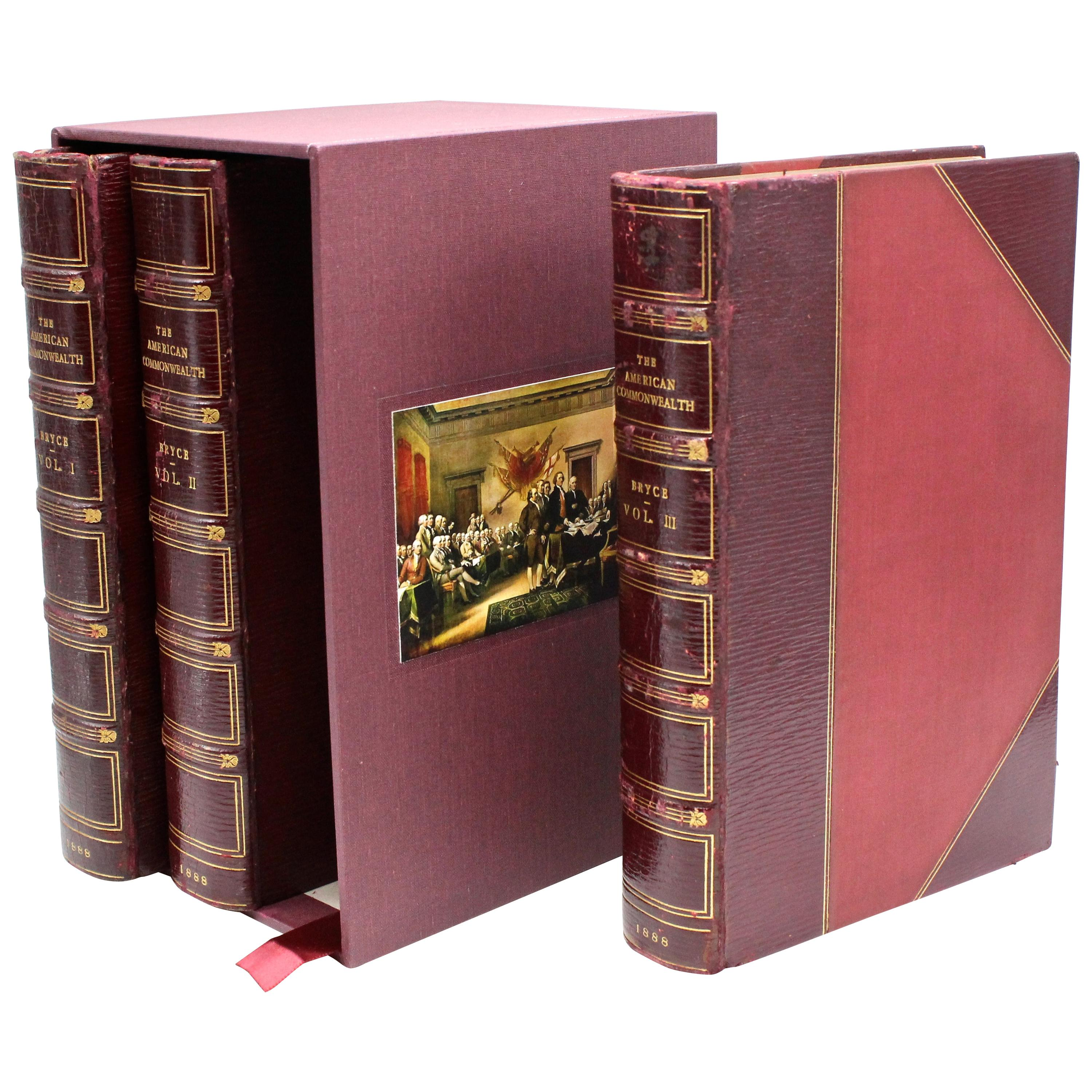 """""""American Commonwealth"""" by James Bryce, First Edition, Three Volume Set, 1888"""
