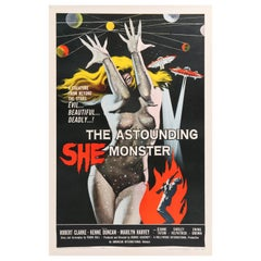 'The Astounding She-Monster' Original US Movie Poster by Albert Kallis, 1958
