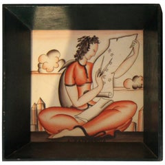"""The Astronomer"" Ceramic Tile"