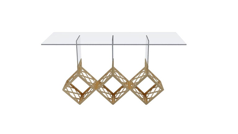 Modern The Bach Console Table Designed by Laurie Beckerman For Sale