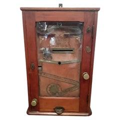 """the Bajazzo"" Wooden Slot Machine, Art Nouveau Slot Machine"
