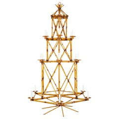 Bamboo Folly Chandelier by David Duncan