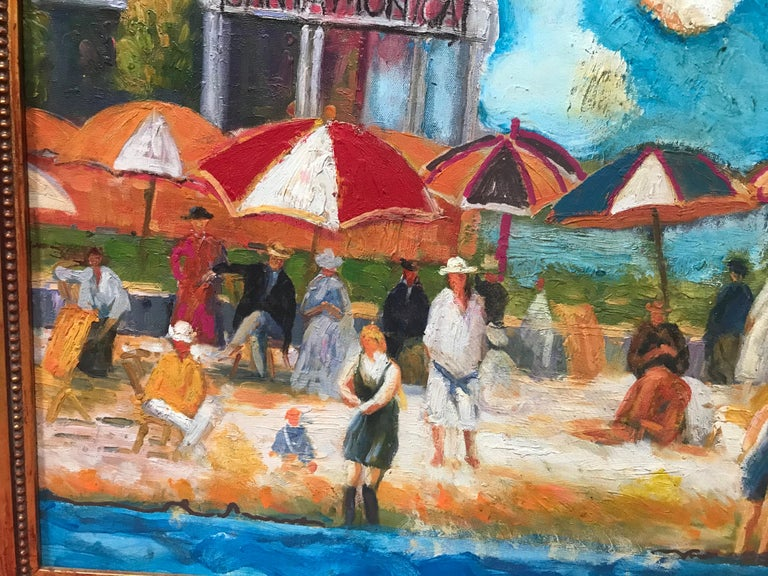 American The Beach at Santa Monica by Dan Shube For Sale