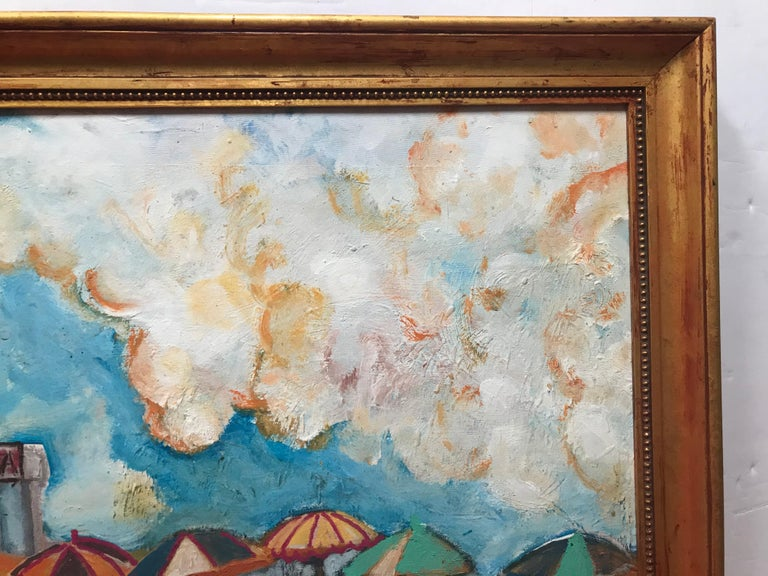 Paint The Beach at Santa Monica by Dan Shube For Sale