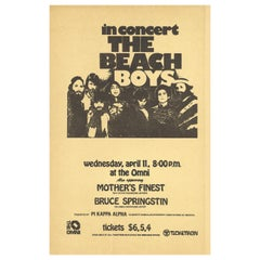The Beach Boys and Bruce Springsteen Original Concert Handbill, Atlanta, 1973