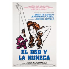 The Bear and the Doll 1969 South American Film Poster, DeRossi