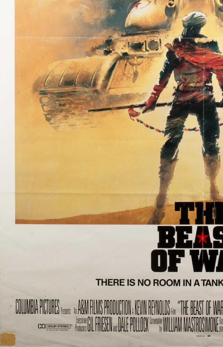 British The Beast of War 1988 International 1 Sheet Film Poster Signed by Vic Fair For Sale