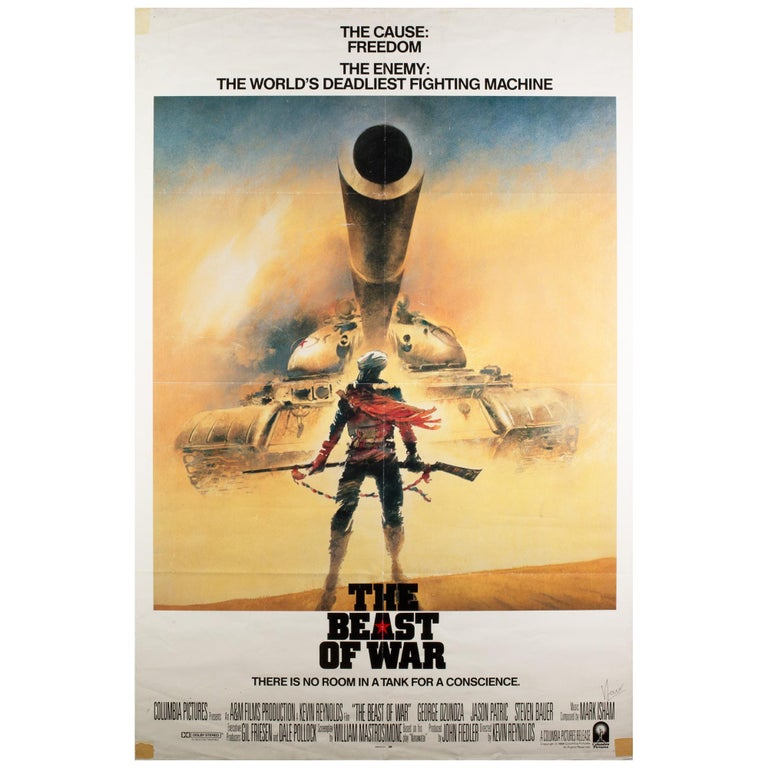The Beast of War 1988 International 1 Sheet Film Poster Signed by Vic Fair For Sale