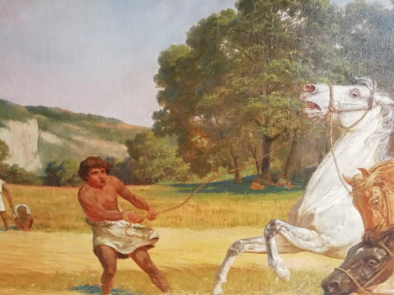 The Beating of Hay in the Golden Age Lemmo Rossi Scotti 19th-20th Century Horses For Sale 1