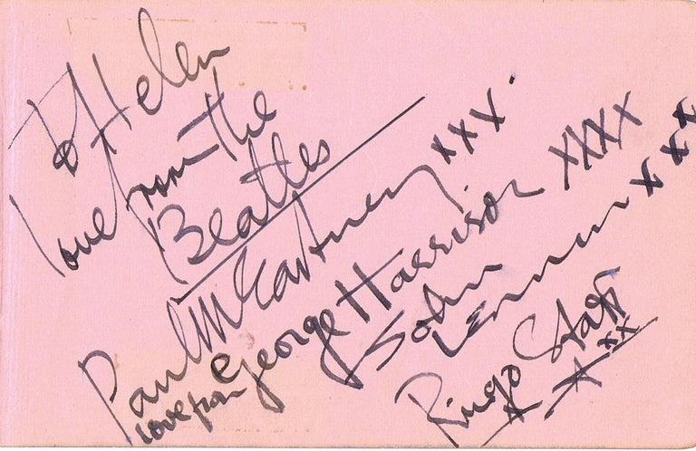 The Beatles Original 1963 Signatures in Autograph Book In Good Condition For Sale In Bristol, GB