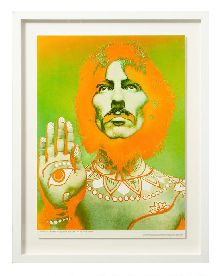 The Beatles by Richard Avedon, offset lithographs, for Look Magazine. Set of 4 Look Magazine Beatles posters with bright colors and minor toning and handling wear. The posters are in very good condition - having been stored in the original shipping