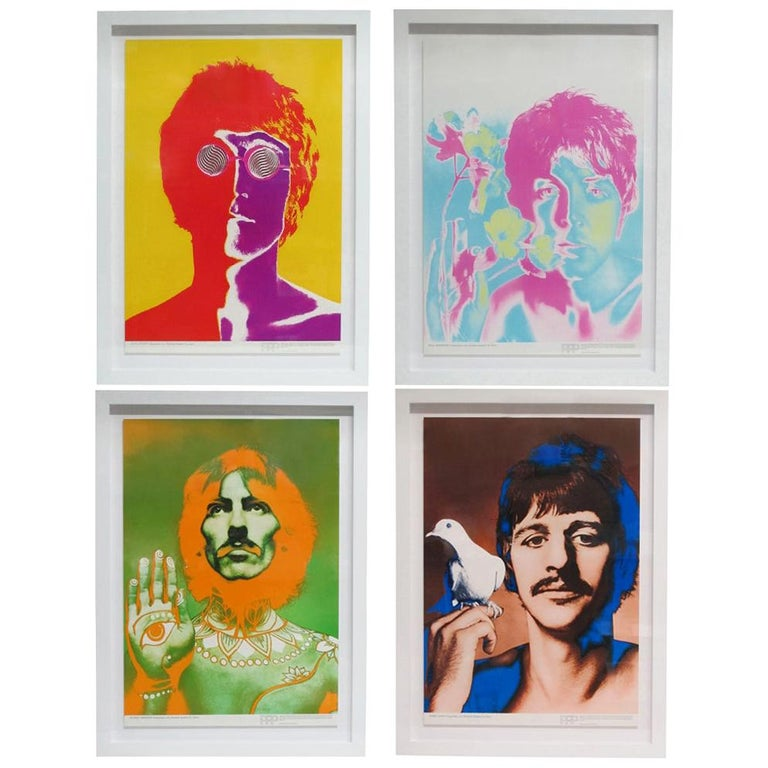 The Beatles by Richard Avedon, Offset Lithographs, for Look Magazine For Sale