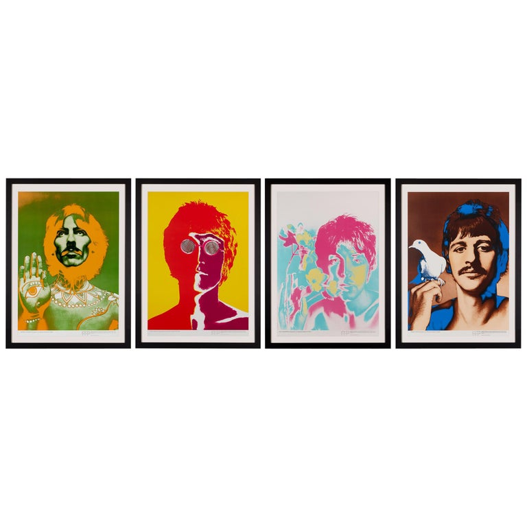 'The Beatles' Complete Set of Five Promotional Posters by Richard Avedon, 1967 For Sale