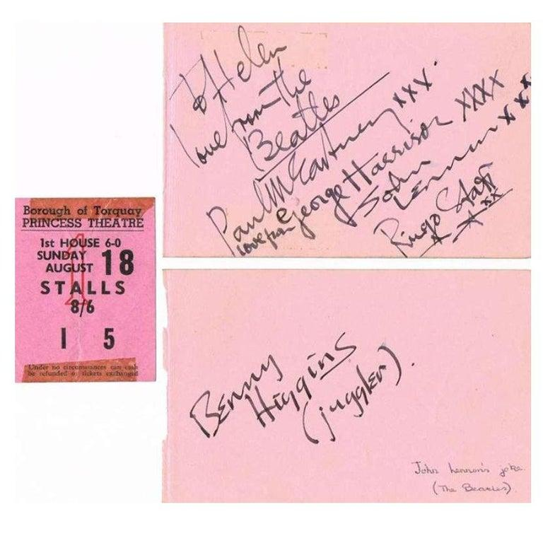 Other The Beatles Original 1963 Signatures in Autograph Book For Sale