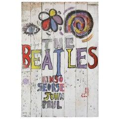 The Beatles Magical Mystery Tour Fan Art Sign, circa 1967