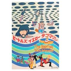 The Beatles 'Yellow Submarine' Original Vintage Movie Poster, Japanese, 1969