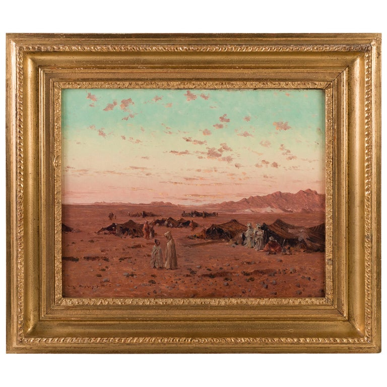 """""""The Bedouin Camp"""" by Eugene Deshayes For Sale"""