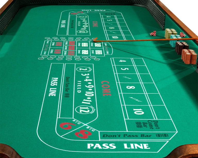 This historic craps table was once owned by the Beverly Country Club, an upscale night club in Metairie, Louisiana with a checkered past. Once one of the New Orleans area's most notorious — and fashionable — illegal casinos, the club claimed to have