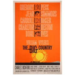 """The Big Country"" 1958 US 1 Sheet Film Movie Poster, Bass, Linen Backed"