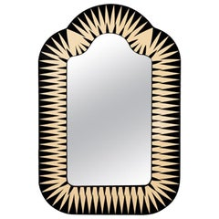 The Big Parade, Tall Oversized Mirror in Black & Ivory by Matteo Cibic
