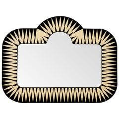 Big Parade Wide Wall Console Mirror by Matteo Cibic