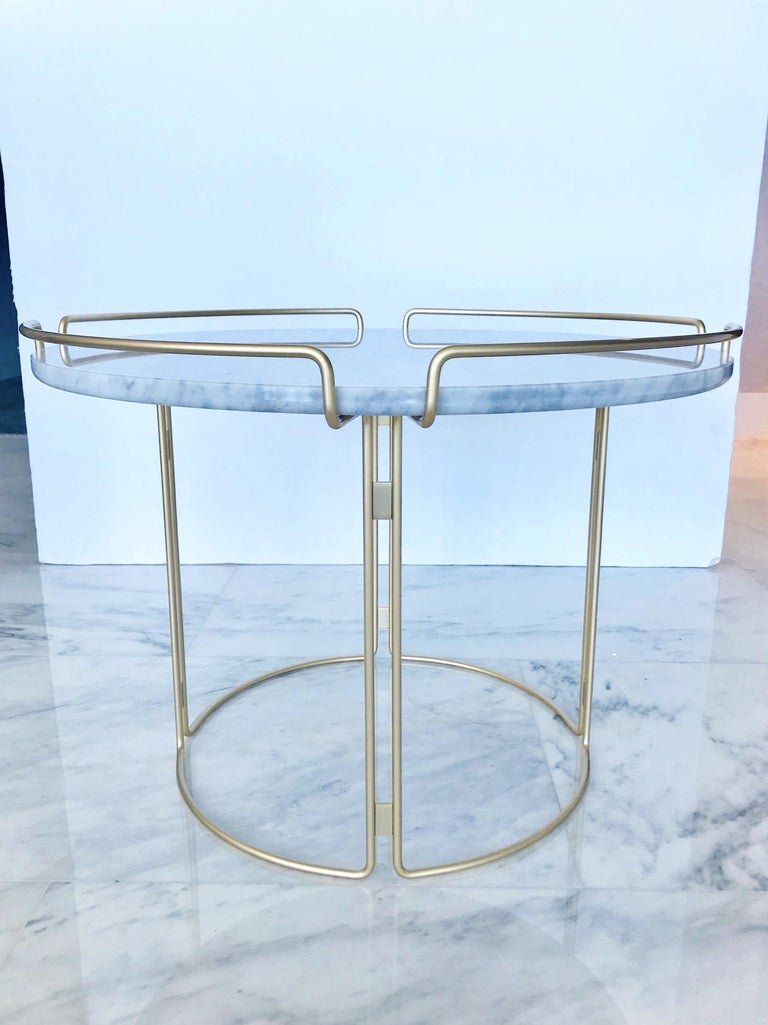 Bijou End Table in Marble and Matte Gold by Roche Bobois, 2018 For Sale 3