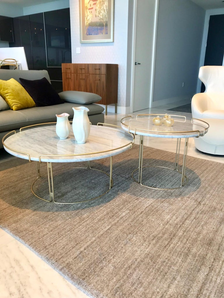 Bijou End Table in Marble and Matte Gold by Roche Bobois, 2018 For Sale 6