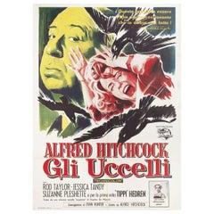 The Birds 1963 Italian Due Fogli Film Poster