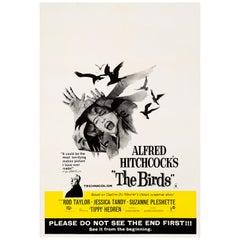 'The Birds' Original Vintage British Double Crown Movie Poster, 1963