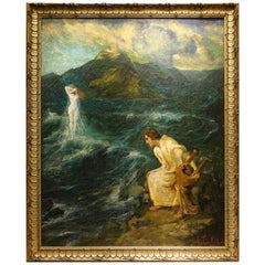 The Birth of Venus, Painting Signed Jules Alphonse TOULOT, 1903