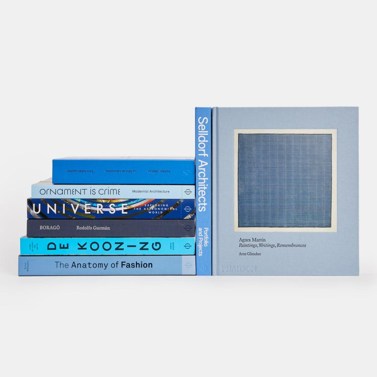 From midnight blue to sky blue, accent any interior with this collection of books. This collection includes: Yves Saint Laurent Accessories: An exclusive homage to – and retrospective of – the iconic fashion designer's couture accessories. Selldorf