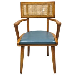 The Boling Changebak Chair Walnut Cane Back Mid Century by Boling Chair Co. 'A'