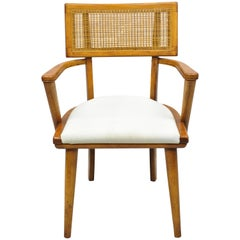 Boling Changebak Chair Walnut Cane Back Mid Century by Boling Chair Co. 'B'