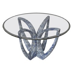 """The Breeze"" Modern Sculptured Azul Bahia Stone Center Table by Grzegorz Majka"