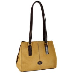 The Bridge Beige Pony Skin Rigid Handbag